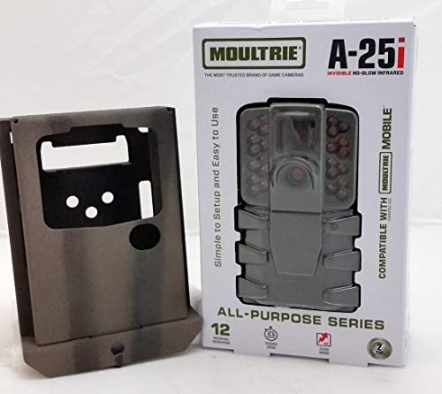 Moultrie A-25i Game Camera (2018) | A-Series| 12 MP | 0.9 S Trigger Speed | 720p Video + Camlockbox Bundle