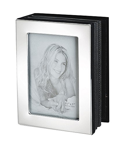Upper Gifts Shiny Silver Metal Photo Album, Holds 72 Photos (4
