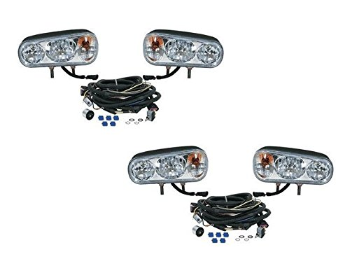 The ROP Shop (2) New Snow Plow HALOGEN HEADLAMP LIGHT KITS for Boss Curtis Western Blizzard by