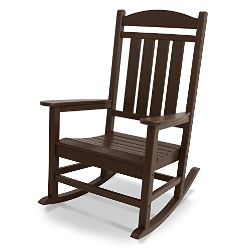 Outdoor Furniture Shop - POLYWOOD R100MA Presidential Outdoor Rocking Chair, Mahogany