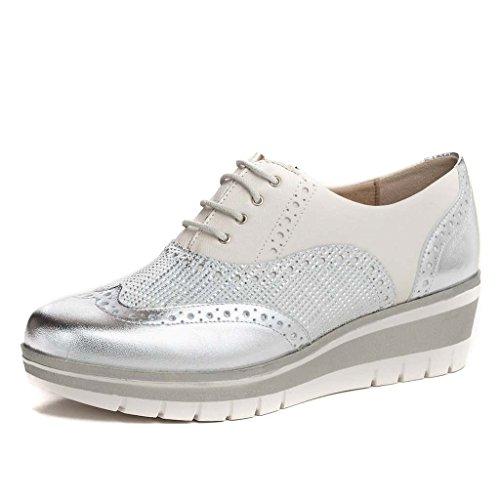 pitillos zapato cordon plata 39