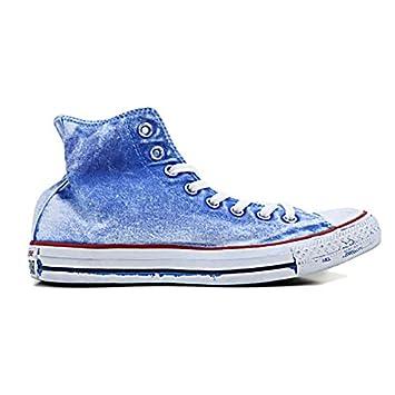 ecfe2d3d7828 CONVERSE ALL STAR HI CANVAS LIMITED EDITION ROYAL sky blue blue Size 10.5