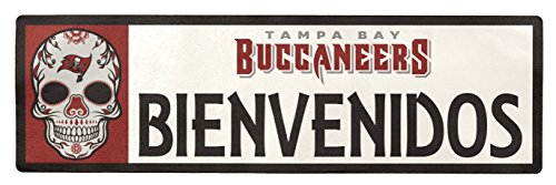 Applied Icon NFL Tampa Bay Buccaneers Bienvenidos Outdoor Step Graphic Decal
