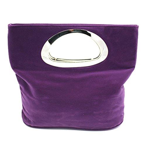 Bag Suede Evening Clutch Suede Handbag Bag Casual Tote Coffee Ladies Bag 0xwnBgB