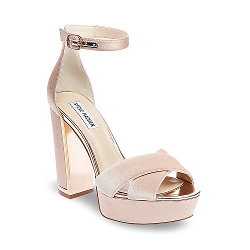 Metallic Womens Heel Block Steve Madden Satin Blush Platform Sandals Rivers fqXxwtP5wv