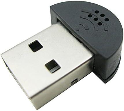Mini USB 2.0 Microphone Mic for Laptop//desktop PCS Skype//Voice Recognition for