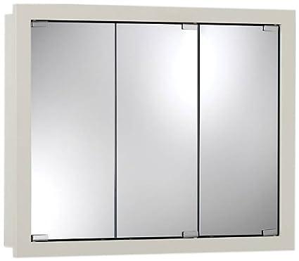 Jensen 740957 Granville Oversize Medicine Cabinet, Classic White, 30 Inch  By 26
