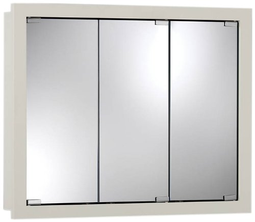 Jensen 740957 Granville Oversize Medicine Cabinet, Classic White, 30-Inch by 26-Inch by 4.75-Inch