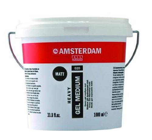 Royal Talens Amsterdam Heavy Gel Medium, 1 Liter Tub, Matte (24192020) by Amsterdam