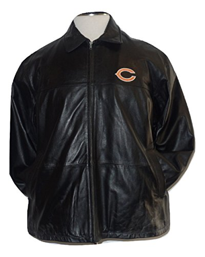 Licensed Sports Apparel Chicago Football Bears Men's Genuine Leather Bomber Jacket XL ()