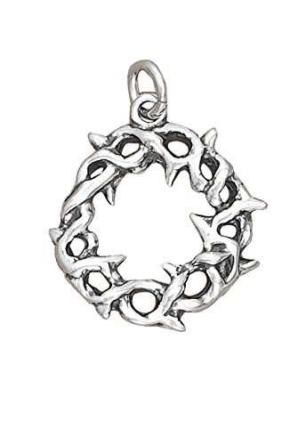 Sterling Silver 3D Jesus Crown Of Thorns Charm by Auntie's Treasures