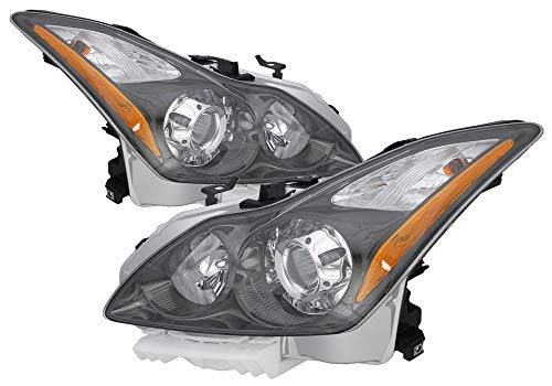 For 2011 2012 2013 Infiniti G37 Coupe/Convertible | Q60 Coupe/Convertible Headlight Headlamp Driver Left and Passenger Right Side Pair Set Replacement IN2502148 IN2503148
