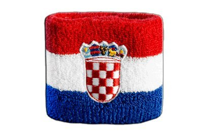 Flaggenfritze/® Schweissband Kroatien 2er Set