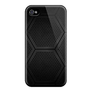 Anti-scratch And Shatterproof Hexagons Block Phone Case For Iphone 4/4s/ High Quality Tpu Case by runtopwell