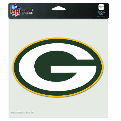 (NFL Green Bay Packers 8-by-8 Inch Diecut Colored Decal)
