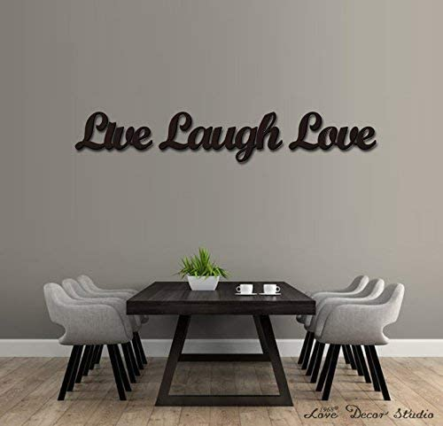 Amazon Com Love Decor Studio 1968 Wooden Letters Art 3d Cutout Live Laugh Love Set Products 13 4cmx45 1cmx1 5cm Home Kitchen