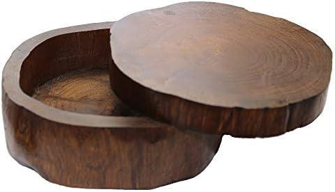 Treuheld® Brauner Schmuckkasten in 2 Größen aus Teak-Holz