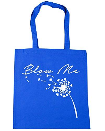 HippoWarehouse Blow Me Bolso de Playa Bolsa Compra Con Asas para gimnasio 42cm x 38cm 10 litros capacidad Azul Aciano