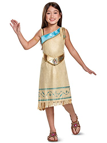 Pocahontas Deluxe Costume, Brown, Medium (7-8) -