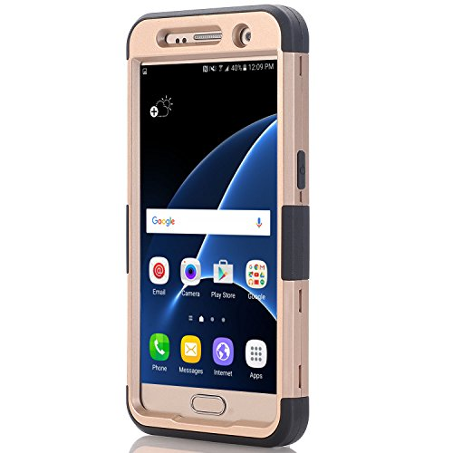 Galaxy S7 situation Asstar Galaxy S7 3 in 1 Shockproof Hybrid Hard PC smooth TPU Impact Protection Scratch protection Cover Absorption Bumper whole Body situation for Samsung Galaxy S7 elevated Gold Grey Cases
