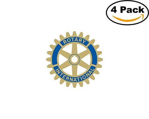 rotary international eps 4 Stickers 4x4 Inches Car Bumper Window Sticker Decal