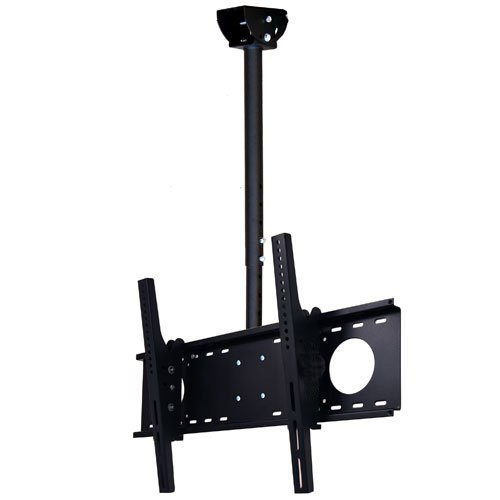 VideoSecu LCD Plasma Flat Panel TV Ceiling Mount Bracket for most 37-60'' Plasma TV Flat Panel Displays, some up to 75'' LED TV with VESA 200x200 400x400 600x400 680x460mm MPC53B 1S5 by VideoSecu