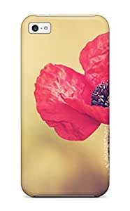 Durable Defender Case For Iphone 5c Tpu Cover(red Poppy Flower Yellow Orange Nature Flower)