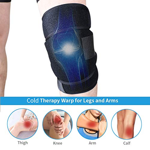 Reusable Gel Ice Pack Wrap Knee Elbow Hot Cold Therapy Microwavable Heating Instant First Aid Support Brace Adjustable Compression Sleeve Pain Relief Sport Injurious Bursitis Rheumatoid Arthritis by DGYAO (Image #1)