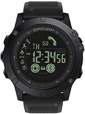 Equickment - Reloj Digital Deportivo para Hombre con podómetro, Contador de calorías, cronómetro, Alarma, para Android iOS: Amazon.es: Hogar