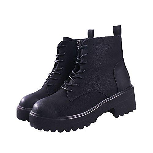 scarpe nero bagnati cotone Stivali spessi Stivali femmina Inverno e Martin 38 Primavera caldo Wild e stivali Plus KPHY autunno Velvet ESqzHvx