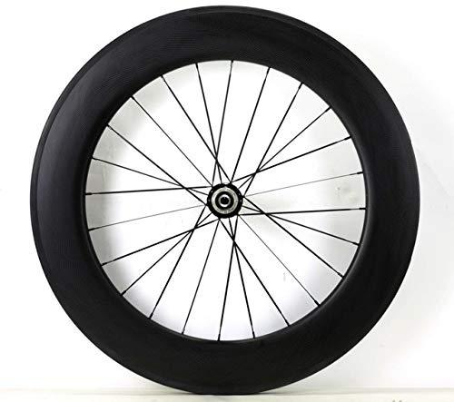 BeesClover 700C 88mm Depth Road Carbon Wheels 25mm Width Single Rear Wheel Clincher/Tubular Bicycle Carbon Fiber wheelset 3K Matte Finish Clincher R51 hub