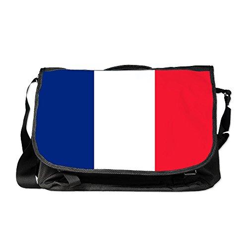 Truly Teague Laptop Notebook Messenger Bag Flag of France ()