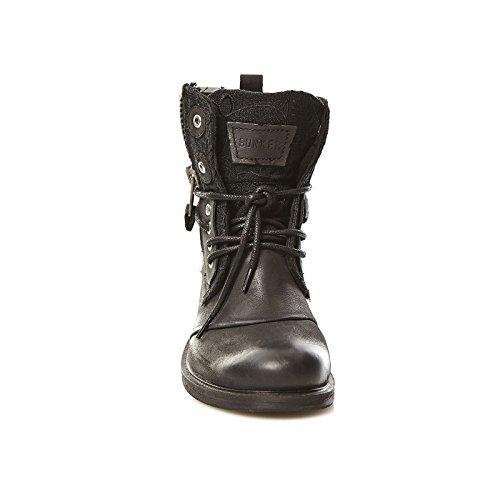 Bunker zipy - Boots en Cuir bi-Matière - Noir iN9bj04L