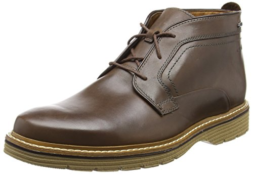 Uomo Sistema Classici Caricamenti Marrone Brown Leather del Newkirk Up GTX Clarks X7O0qP