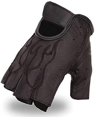 First Manufacturing Unisex Flame Fingerless Gel Gloves FI166GEL