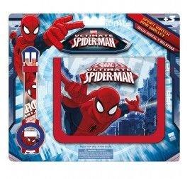 Set regalo reloj digital y billetera de Spiderman: Amazon.es: Juguetes y juegos