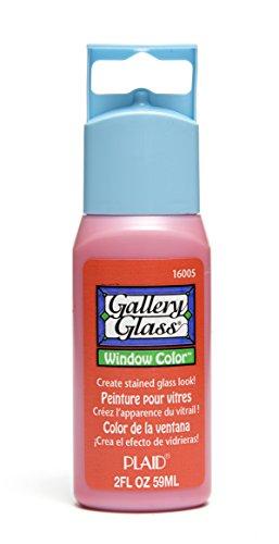Orange Window Paint (Plaid Gallery Glass Window Color in Assorted Colors (2 oz), 16005, Orange Poppy)