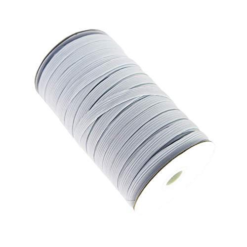 - 70 Yards White Braided Elastic, Springy Stretch Braided Elastic Cord Elastic Band, 1/2 Inch