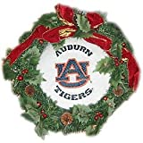 Auburn Tigers 22'' Fiber Optic Holiday Wreath - College Wreaths
