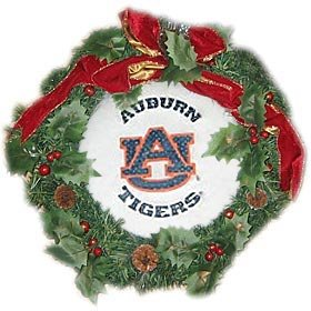 Auburn Tigers 22'' Fiber Optic Holiday Wreath - College Wreaths