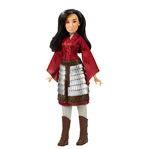 Disney Mulan Fashion Doll with Skirt Armor, Shoes, Pants, and Top, Inspired by Disney