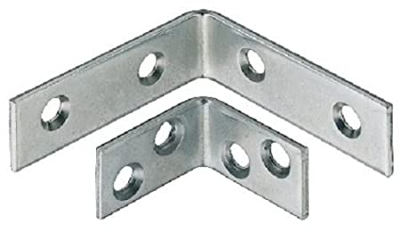 90 Degree Metal Right Angle L Brackets Shelf Support 25mm 40mm 50mm 60mm 80mm (10, 25x25x15mm) City Deco Centre