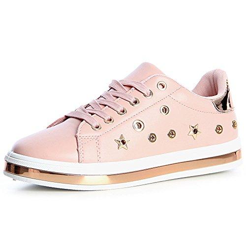 Sport Femmes Topschuhe24 De Chaussures Sneaker Rose txd4Zwd