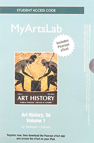 NEW MyArtsLab with Pearson eText -- Standalone Access Card -- for Art History, Volume 1 (5th Edition)