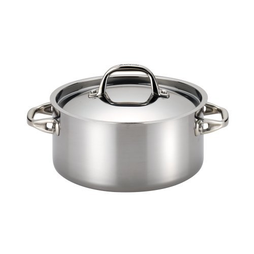 Anolon Tri-Ply Clad Stainless Steel 5-Quart Covered Dutch Ov