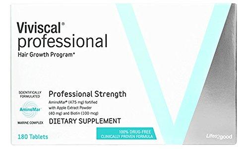 大容量 Viviscal Hair Growth Program, Professional 180 tablets/増毛効果、髪質向上を促進するサプリメント (プロフェショナル)(海外直送品) B01BFJ79PI