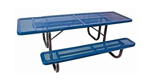 (ultraPLAY 8 ft. Perforated Supervisor Picnic Table in Blue Finish)