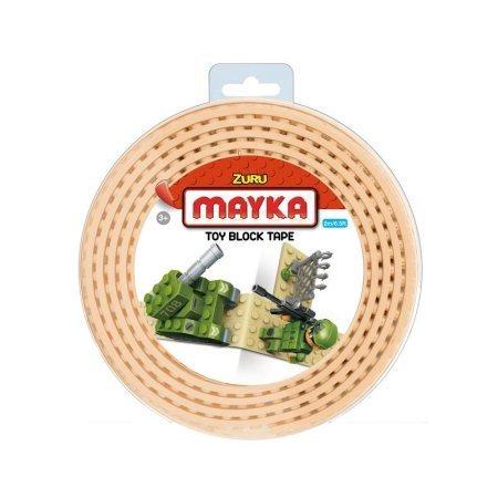 MAYKA Toy Block Tape, 4 stud, 6.5ft, Sand,non-marking