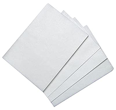 Bakery Crafts BC WFS-0811 100 Count Edible Rectangle Rice and Wafer Paper, 8 by 11-Inch, White