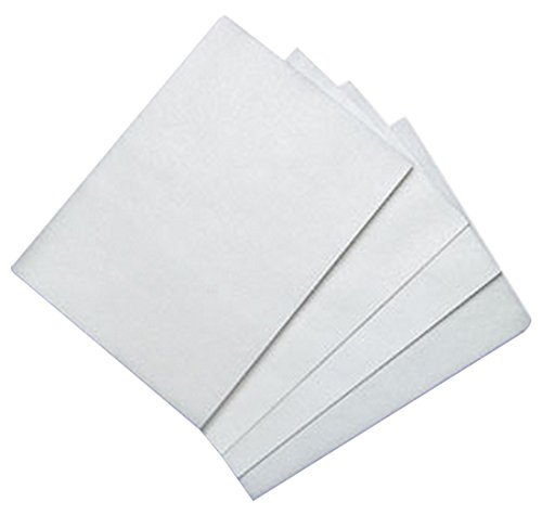 100 Count Edible Rectangle Wafer Paper, 8 by 11-Inch, White (Printable Candy Wrappers)